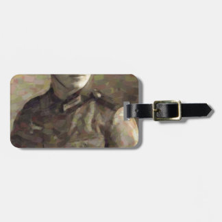 Abstract impressionist painting of A Young Soldier Luggage Tag