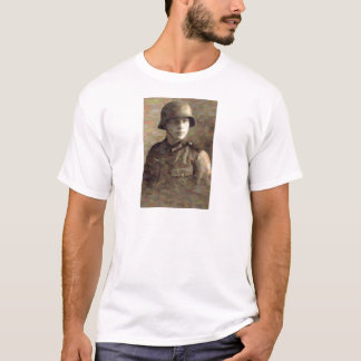 Abstract impressionist painting of A Young Soldier T-Shirt