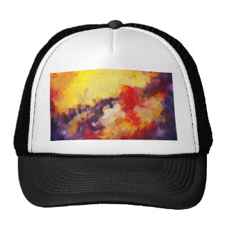abstract impressionist sky sunset sunrise trucker hat