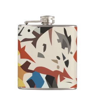 Abstract in beige tones hip flask