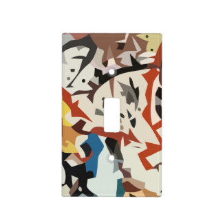 Abstract in beige tones light switch cover