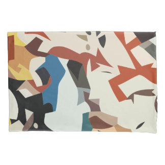 Abstract in beige tones pillowcase