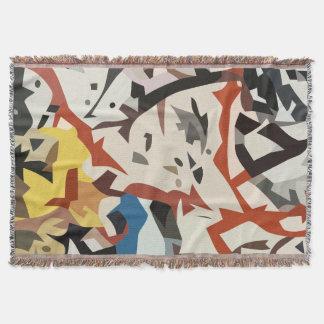 Abstract in beige tones throw blanket