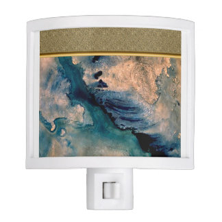 Abstract in Blue and Beige Night Light