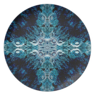 Abstract in Blue and Teal. Some soft edges. Party Plates