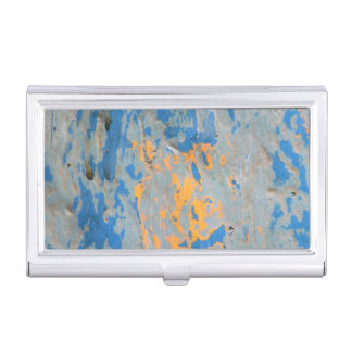 Abstract in Blue Business Card Holder