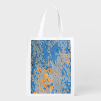 Abstract in Blue Reusable bag Reusable Grocery Bag