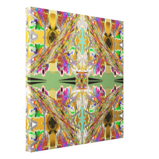 Abstract in Jewel Colors Canvas Print
