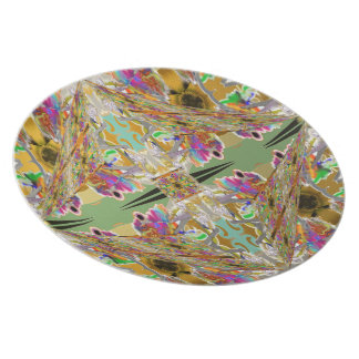 Abstract in Jewel Colors Plate