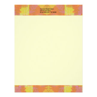 Abstract in Orange and Yellow Letterhead