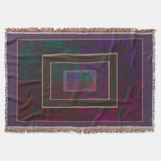 Abstract In Purples Throw Blanket