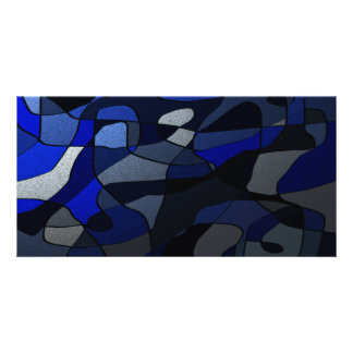 Abstract in Shades of Blue Photo Cards