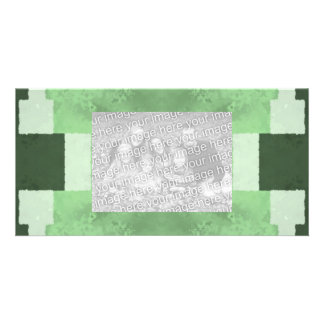 Abstract in Shades of Green Photo Card
