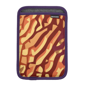 Abstract in shades of red iPad mini sleeve