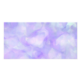 Abstract in Soft Purple and Blue Photo Cards