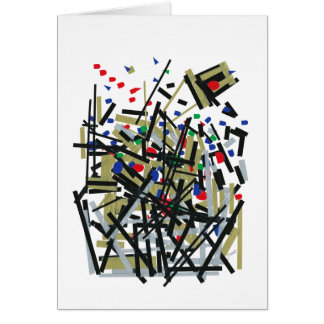 Abstract in Tape & Letterforms 1 Card