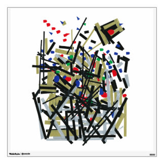 Abstract in Tape & Letterforms 1 Wall Sticker