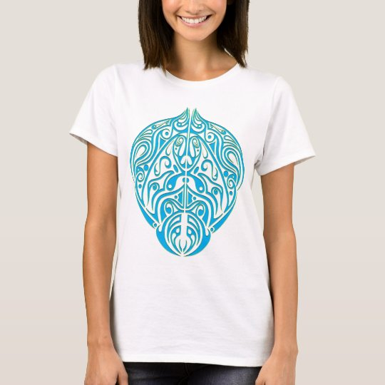 Abstract in Turquoise T-Shirt