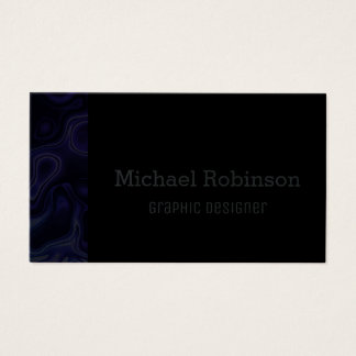 Abstract Indigo Blue & Black Business Card
