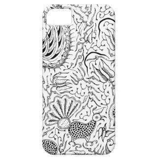Abstract Indonesian Textile with Birds iPhone 5 Covers