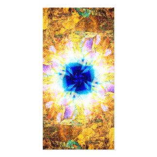 Abstract Inferno Custom Photo Card