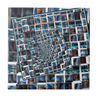 Abstract Infinity Ceramic Tile