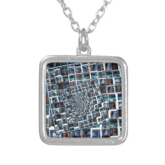 Abstract Infinity Silver Plated Necklace