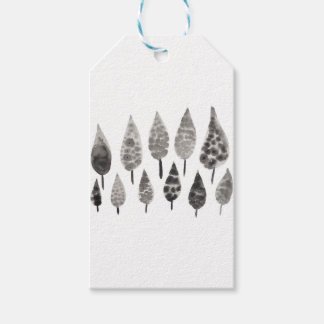 Abstract Ink Blot Trees Gift Tags