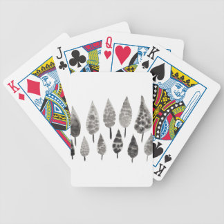 Abstract Ink Blot Trees Poker Deck