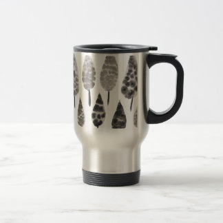 Abstract Ink Blot Trees Travel Mug