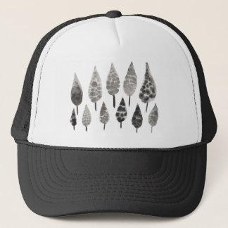Abstract Ink Blot Trees Trucker Hat