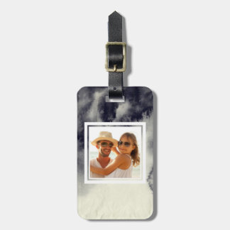 Abstract  Ink Painting On Paper| Add your Name Luggage Tag