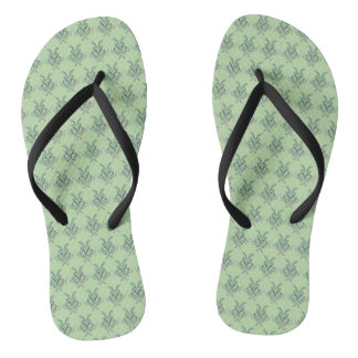 Abstract Ink Print Flip Flops