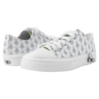 Abstract Ink Print Low Top Shoes