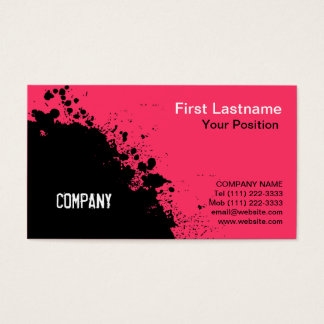Abstract Ink Splash Business Card