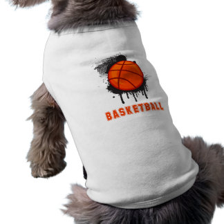 Abstract Ink Splotch with BASKETBALL and TEXT Dog Clothes