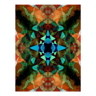 Abstract Inkblot Pattern Poster