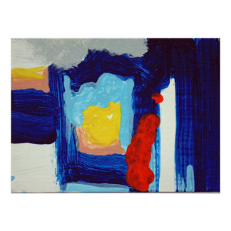 abstract interior poster