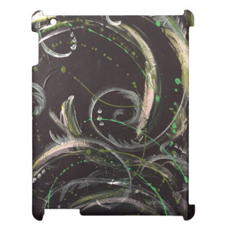 Abstract IPad case in 'Feeling Green'