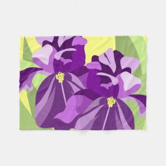Abstract Iris Fleece Blanket