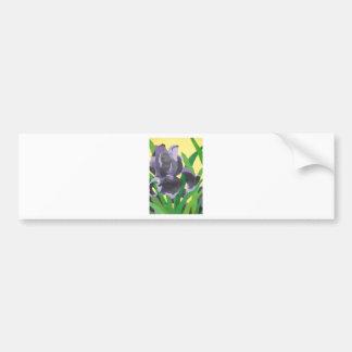 abstract irises bumper sticker