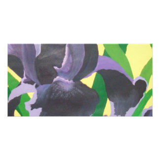 abstract irises personalized photo card