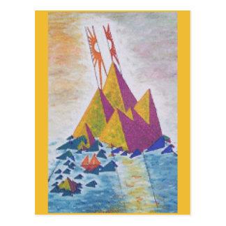 Abstract Island Art Postcard