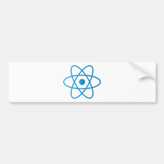 Abstract Isolated Atom Bumper Sticker