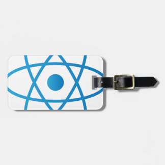 Abstract Isolated Atom Luggage Tag