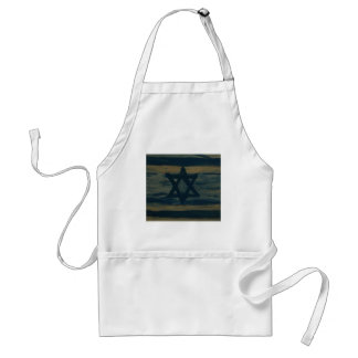abstract israel adult apron