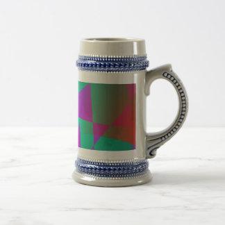 Abstract Japanese Fall Pattern Dark Coffee Mug