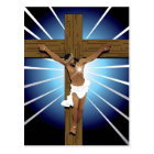 Abstract Jesus Christ Postcard