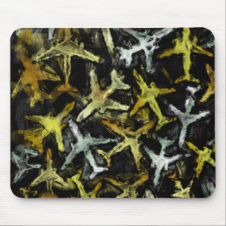 Abstract Jet Aircraft Collage Mouse Pad