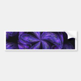Abstract.jpg floral violet autocollant de voiture